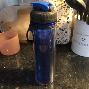 Blue double insulated water bottle